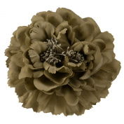 Multi Petal Flower with Pin and Clip - Taupe W01S38A