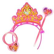 Disney Princess Glow-in-the-Dark Necklace and Tiara Toy Set
