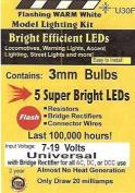 U30F 3mm Flashing Warm White LED