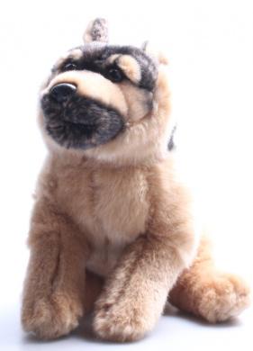 Toys R Us Plush 23cm German Shepherd - Black and Tan