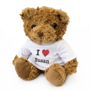 NEW - I LOVE SUSAN - Teddy Bear - Cute And Cuddly - Gift Present Birthday Xmas Valentine
