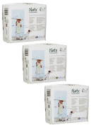 Pack Of 3 Naty Maxi Plus Nappies (Size 4+) 75 Nappies