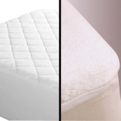 Hometex Quilted / Terry Towel Fitted Mattress Protector Cover Single Terry Towel