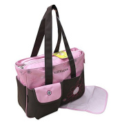 2-piece Baby Colour Model 2015 ! pink brown Nappy bag Clean Bag Nappy Bag Baby Bag Travel Colour Selection