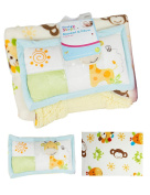 First Steps Soft Sherpa Blanket Pillow Soft Toddler Crib Basket Buggy Age 2+