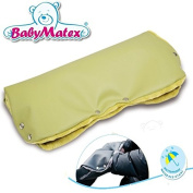 BabyMatex ** Eco-Leather GREEN ** Handwarmer for Baby Pushchair / Pram / Stroller Hand Warmer Muff