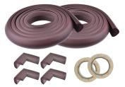FiveSeasonStuff® 2 Pack All Season Premium Foam Cushion Table Edge Guards (Edge Protectors) + 4 Corner Guards (Corner Protectors) Kits for Baby Proofing Child Proofing