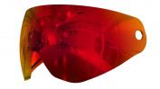 HK Army KLR Paintball Mask Lens - Scorch Red Mirror