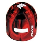 Exalt Paintball Carbon Fibre Tank Grip Cover For All Sizes - Black/Red Swirl