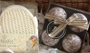 Beauty Bath Time Bath Bombs and Large Sponge Hamper