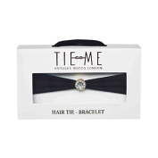 Tie Me Bracelet Wrist & Hair Band in Black
