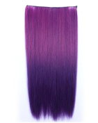 OUKIN One Piece Long Straight Synthetic Thick Clip in Hair Extension Clip-on Hairpieces