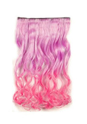 OUKIN One Piece Long Curl/curly/wavy Synthetic Thick Clip in Hair Extension Clip- on Hairpieces