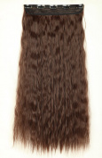 """S-noilite One Piece Clip in Hair Extensions 22""""(56cm) Corn Wave Medium Brown"""