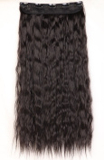 """S-noilite One Piece Clip in Hair Extensions 22""""(56cm) Corn Wave Natural Black"""