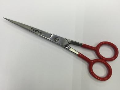 Pro Moustache Scissors, Moustache or Beard Scissor Great Sharp Scissors Red 17cm inch