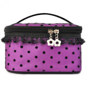CareforYou® Women Toiletry Cosmetic Case Storage Beauty Container Makeup Bag Makeup Case Organiser Zipper Handbag