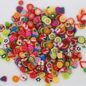 1000X Useful 3D Nail Art Fruit Flower Slices Polymer DIY Decoration Stickers
