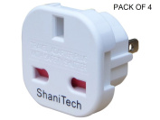 ShaniTech Pack of 4 UK to US Travel Adaptor suitable for USA, Canada, Mexico, Thailand - Refer to Description for country list
