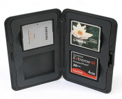 King of Flash Compact Water Resistant Memory Card Case Holder Hard Plastic 4 X CF