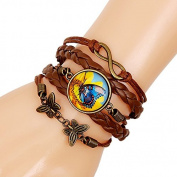 TheWin Lady's Time Bracelet, Pack of 2 Butterfly Style