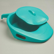 Green Fracture Bed Pan with Lid