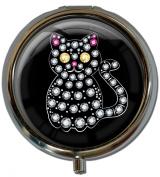 "Pillbox in a round shape ""Cat"""