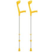 Adjustable Coloured Crutches - YELLOW