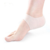 Hengsong 1 Pair Silicone Foot Care Moisturising Gel Heel Socks Ankle Pain Relief Cushion