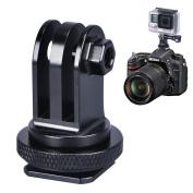 Smatree Full Aluminium Tripod Screw to SLR Camera Flash Hot Shoe Mount Adapter for GoPro Hero 4, Session, 3+, 3, 2, 1