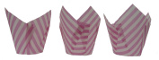 Scrumptious Sprinkles Candy Stripe Tulip Muffin Cases, Pink x 200