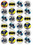 24 x Batman (#2) Cupcake Cake Toppers