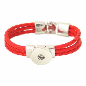 Leather bracelet for click buttons