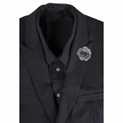 LEORX Camellia Boutonniere Lapel Pin Tie Brooch for Men