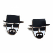 Breaking Bad. Heisenberg Black and White Cufflinks in Gift Box