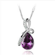 Purple Crystal Teardrop Necklace