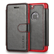 iPhone 5s Case,Mulbess [Layered Dandy][Vintage Series][Black] - [Ultra Slim][Folio Wallet Case] - Leather Flip Cover With Credit Card Slot for Apple iPhone 5s iPhone 5