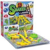 3D SNAKES AND LADDERS BOARD GAME FUN FAMILY XMAS KIDS TOYS GIFT TRADITIONAL NEW