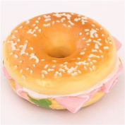 cute ham bagel sandwich squishy charm cellphone charm