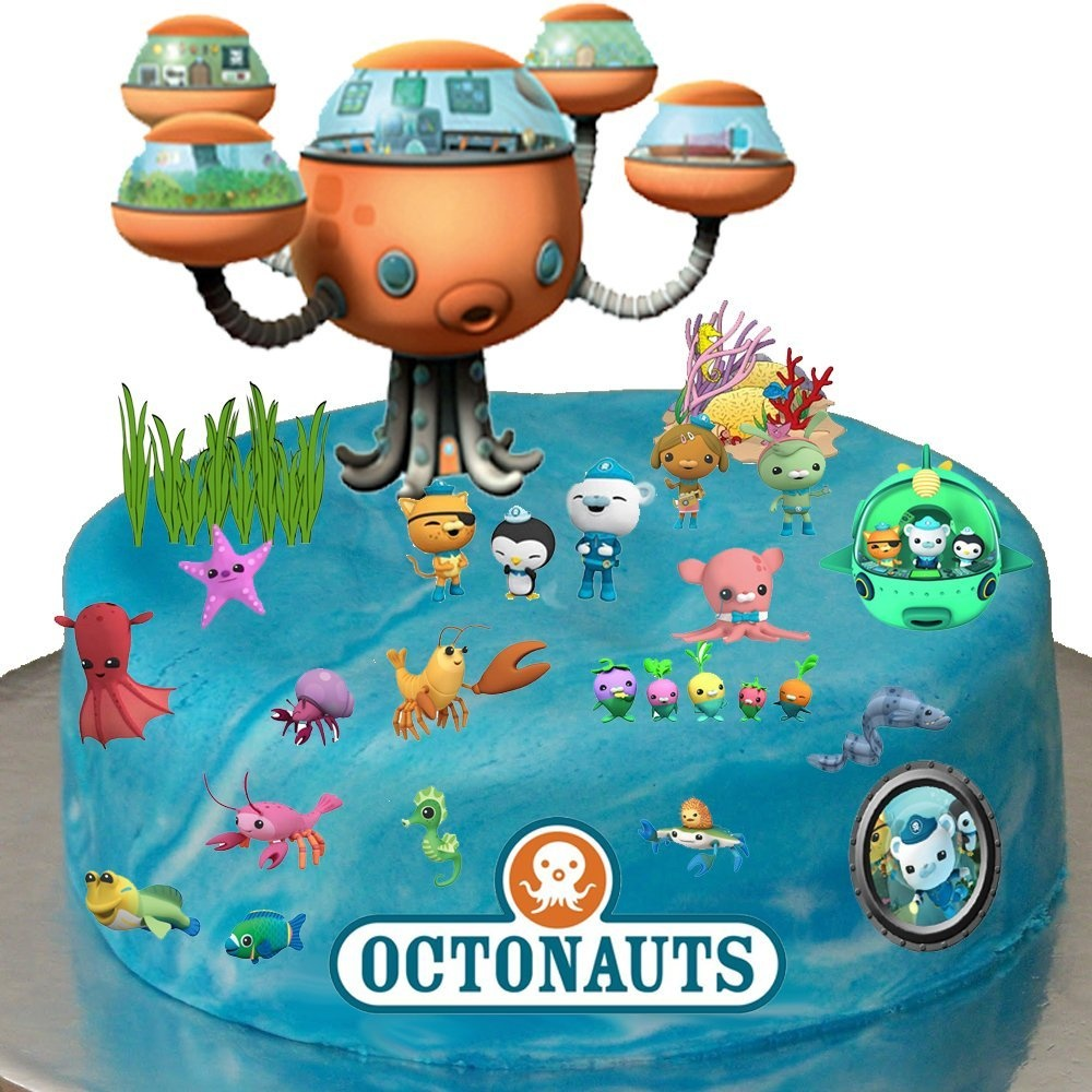 Stand Up Octonauts Cake Scene Premium Edible Wafer Paper Cake