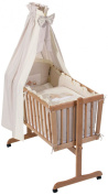 Easy Baby 480-83 Bassinet in Sleeping Bear Design Natural Colour