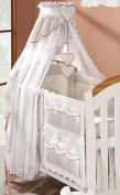 Luxury Baby Crown Canopy Drape / Mosquito Net Only Large 320 cm for Cot Bed - cheque BEIGE