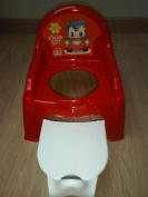 KID'S & TODDLER & BABY PLASTIC RED COLOUR POTTY CHAIR COMES WITH BLUE OR RED PICTURE