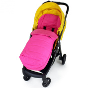 XXL Large Luxury Foot-muff And Liner For Mamas And Papas Armadillo - Raspberry
