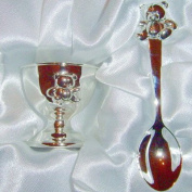 Silver Eggcup and Spoon Christening Gift