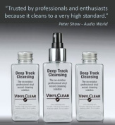 The Professional LP Record Solution. Antistatic Vinyl Record Restoration Cleaner Fluid. 1x150ml Bottle with Atomiser Spray plus 2x150ml refills
