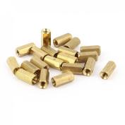20Pcs M3 Female Thread 10mm Long Hex Brass Pillar Standoff Spacer