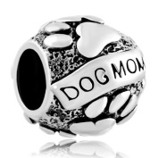 Dog Mum Animal Puppy Dog Paws Print Love Charms Sale Cheap Beads fit Pandora Charm Bracelet Gifts