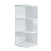Woodluv MDF 3 Tier Wall Mounted Corner Shelf Bathroom Cabinet Unit