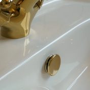 Superb quality TROVE HOUSE BRAND Bathroom Basin / Sink Overflow Cover Paris Insert in Gold colour